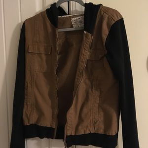 Black and brown worn once jacket